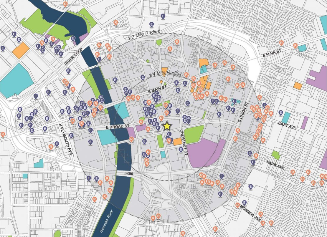 Innovation Square neighborhood map