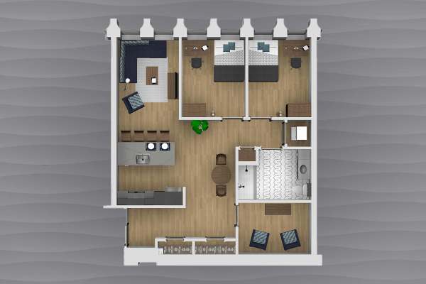 2 bedroom with den apartment