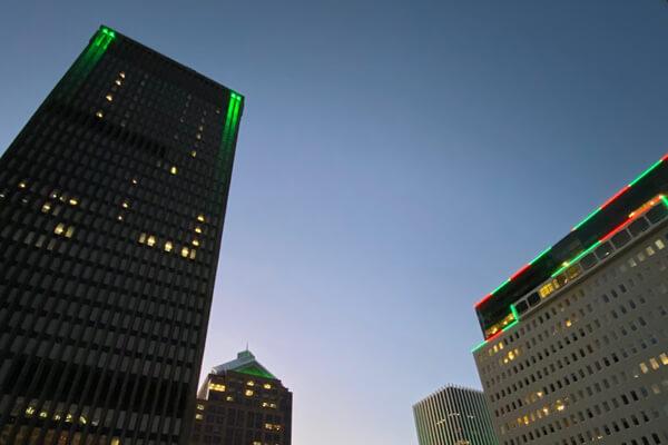 Innovation Square at night