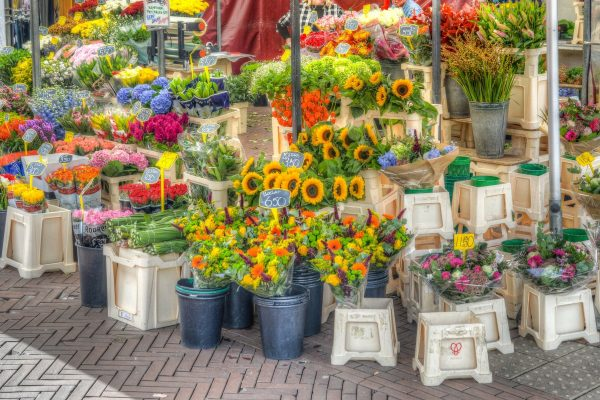 Outdoor flower stand