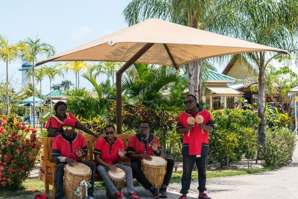 Caribbean Band in red clothing